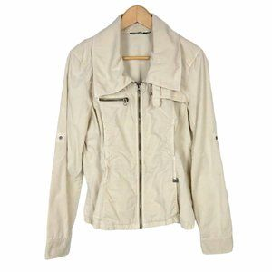 Armani A/X Cream Light Jacket Roll Up Sleeves Sz S
